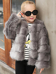 cheap -Faux Fur Wedding Party / Evening Kids' Wraps Coats / Jackets
