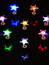 1PCS LED Color Changing Star Shape Earrings Ear Studs for Dance Party
