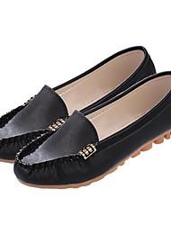 Damen Schuhe Nappaleder Frühling Sommer Mokassin Flache Schuhe Für Normal Weiß Schwarz Grün Rosa