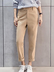 cheap -Women's Straight / Chinos Pants - Solid Colored High Rise / Summer