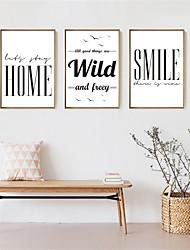 economico -Romanticismo Decorazioni da parete in 3D Stampe con cornice Tele con cornice Set con cornice cornice Art Decorazioni da parete,Legno