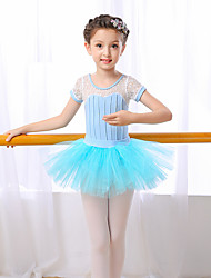 cheap -Outfits Performance Cotton Short Sleeve High Skirts Leotard / Onesie