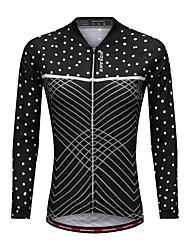 economico -WOSAWE Per donna Manica lunga Maglia da ciclismo - Nero Bicicletta Maglietta/Maglia