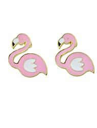 baratos -Mulheres Brincos Compridos - Pássaro Fashion, Estilo bonito Rosa claro Para Casual Encontro