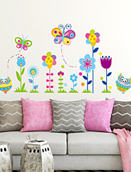 Botanical Floral/Botanical Fashion Wall Stickers Plane Wall Stickers Decorative Wall Stickers,Plastic Material Home Decoration Wall Decal