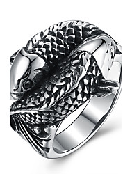 Women's Knuckle Ring Hip-Hop Personalized Stainless Steel Titanium Steel Geometric Snake Jewelry For Halloween Street