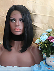 cheap -Synthetic Lace Front Wig Bob Haircut Black Women's Lace Front Natural Wigs Short Synthetic Hair