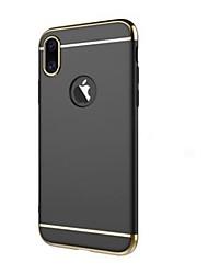 abordables -Para iPhone X Carcasa Funda Antigolpes Cromado Cubierta Trasera Funda Color sólido Dura Plástico para Apple iPhone X
