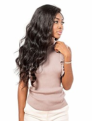 cheap -Women Human Hair Lace Wig Brazilian Remy Full Lace Glueless Full Lace 180% 150% 130% Density With Baby Hair Body Wave Wig Medium Brown
