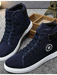 cheap -Men's Shoes Canvas Spring Fall Light Soles Sneakers for Casual White Black Blue
