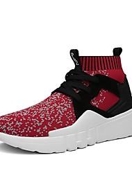 Chaussures Nylon Automne Confort Botillons Marche Bottine/Demi Botte Lacet Elastique pour Noir Gris Rouge