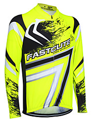 Fastcute Cycling Jersey Men's Women's Kid's Unisex Long Sleeves Bike Sweatshirt Jersey Quick Dry Front Zipper Breathable Soft
