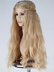 abordables -Perruques de Déguisement / Perruque Synthétique Blond Femme Sans bonnet Perruque de Cosplay Long Cheveux Synthétiques
