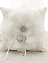 cheap -Ribbon Rhinestone Flower(s) Bow Satin Silk Ring Pillows Wedding Ceremony