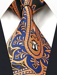 Недорогие -мужская работа случайный районный галстук - цветочный цветной пейсли, основной
