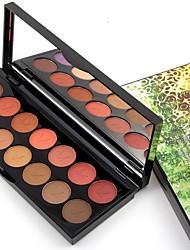 abordables -14pcs Mélange / Sec / Normal Fards à Paupières Maquillage Smoky-Eye / Maquillage Œil de Chat / Maquillage de Fée Quotidien