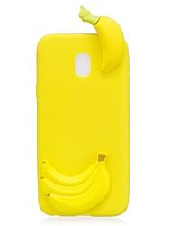 Недорогие -Кейс для Назначение SSamsung Galaxy J7 (2017) J3 (2017) С узором Своими руками Кейс на заднюю панель Фрукты 3D в мультяшном стиле Мягкий