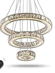 Недорогие -Подвесные лампы Рассеянное освещение - Хрусталь Лампочки включены Регулируется Диммируемая Диммируемый с дистанционным управлением