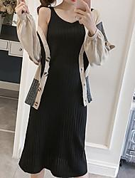 Damen Solide Einfach Ausgehen Lässig/Alltäglich Shirt Rock Anzüge,Gurt Herbst Winter Lange Ärmel Dehnbar