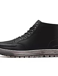 baratos -Homens sapatos Borracha Inverno Conforto Botas Preto / Marron