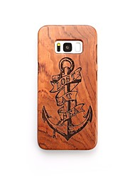 cheap -Case For Samsung Galaxy S8 Plus S8 Shockproof Pattern Back Cover Anchor Hard Wooden for S8 Plus S8 S7 edge S7 S6 edge plus S6 edge S6 S6