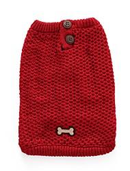 Cane Maglioni Abbigliamento per cani Casual Osso Rosso Blu Costume Per animali domestici