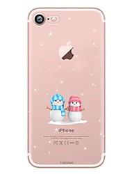 Funda Para Apple iPhone X iPhone 8 iPhone 8 Plus Ultrafina Transparente Diseños Cubierta Trasera Navidad Suave TPU para iPhone X iPhone 8