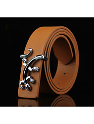 cheap -Men's Alloy Waist Belt,Blue Brown White Black Camel Solid Solid Shiny Metallic Animal Pattern Fashion