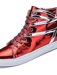 economico -Per uomo Scarpe PU (Poliuretano) Inverno Autunno Comoda Sneakers Lacci per Casual All'aperto Nero Argento Rosso