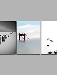 preiswerte -nebel 3-teilig moderne kunstwerk wandkunst für raumdekoration 20x28inchx3