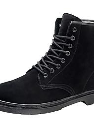 preiswerte -Damen Schuhe Echtes Leder Leder Herbst Winter Modische Stiefel Stiefeletten Springerstiefel Stiefel Runde Zehe Geschlossene Spitze