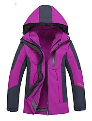 Women's Hiking 3-in-1 Jackets Outdoor Windproof 3-in-1 Jacket Winter Jacket Top Full Length Visible Zipper for Camping / Hiking Cycling