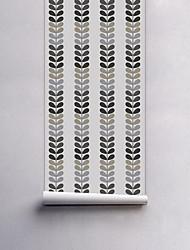 abordables -A Rayas Árboles y Hojas Fondo de pantalla Para el hogar Arcaico Revestimiento de pared , PVC/Vinilo Material Auto Adhesivos papel pintado