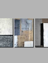 cheap -Hand-Painted Abstract Horizontal Panoramic, Simple Modern Canvas Oil Painting Home Decoration Three Panels