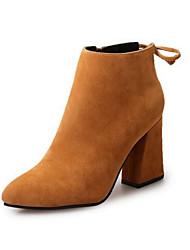 preiswerte -Damen Schuhe Samt Herbst Winter Stiefeletten Springerstiefel Stiefel Spitze Zehe Booties / Stiefeletten Schleife Reißverschluss