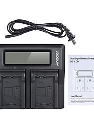 andoer np-fw50 npfw50 double canal appareil photo numérique chargeur de batterie w / affichage lcd pour sony 7 7r 7sii 7ii 6500 a6300