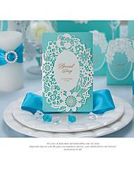 Недорогие -Сложенные Свадебные приглашения Пригласительные билеты Приглашения на вечеринку по случаю помолвки Художественный Современный Тиснённая