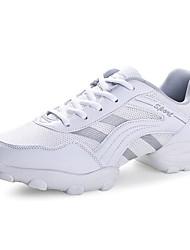 economico -Per uomo Sneakers da danza moderna Tulle Tacchi Plateau Scarpe da ballo Bianco / Nero e argento / Nero / arancio / Da allenamento
