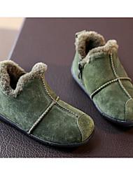 Мальчики обувь Натуральная кожа Зима Удобная обувь Мокасины и Свитер Назначение Повседневные Черный Серый Зеленый