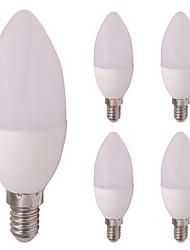 preiswerte -5 Stück 3W 260lm E12 / E14 LED Kerzen-Glühbirnen E14 / E12 6 LED-Perlen SMD 2835 Warmes Weiß Kühles Weiß 12V