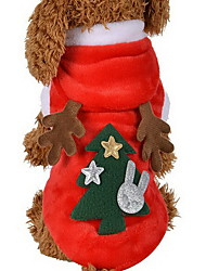 Недорогие -Кошка Собака Костюмы Толстовки Одежда для собак Северный олень Красный Терилен Костюм Назначение Зима Косплей Рождество