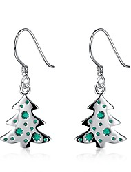 cheap -Women's Drop Earrings / Hoop Earrings - Silver Plated Leaf, Tree of Life, Christmas Tree Classic, Fashion Silver For Christmas / Evening Party