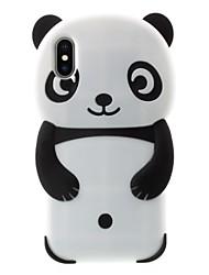 billiga -fodral Till Apple iPhone X / iPhone 8 Plus Mönster Skal Panda Mjukt Silikon för iPhone X / iPhone 8 Plus / iPhone 7 Plus