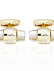 cheap -Oval Shape Silver / Golden Cufflinks Brass Gothic Style Men's Costume Jewelry For Night out&Special occasion