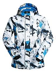 Skijakke Herre Ski Vandring Langrend Varm Vandtæt Vindtæt Påførelig Anti-statisk Åndbarhed Miljøvenlig Polyester Vinterjakke