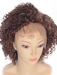 Women Human Hair Lace Wig Brazilian Human Hair Lace Front 130% Density Kinky Curly Jerry Curl Curly Afro Kinky Wavy Wig Medium Auburn