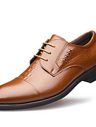 baratos -Homens sapatos Couro Envernizado Inverno Outono Sapatos formais Oxfords para Casual Festas & Noite Preto Marron