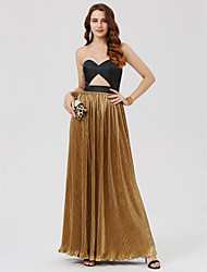 cheap -A-Line Princess Sheath / Column Sweetheart Ankle Length Charmeuse Formal Evening Dress with Sashes / Ribbons Pleats by TS Couture®