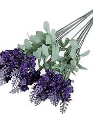 Недорогие -2 Филиал Полиэстер Светло-голубой Букеты на стол Искусственные Цветы