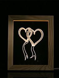 economico -1 set di luce di notte di umore 3d ha condotto le luci camera da letto della lampada della foto della camera da letto del usb regali doppio cuore